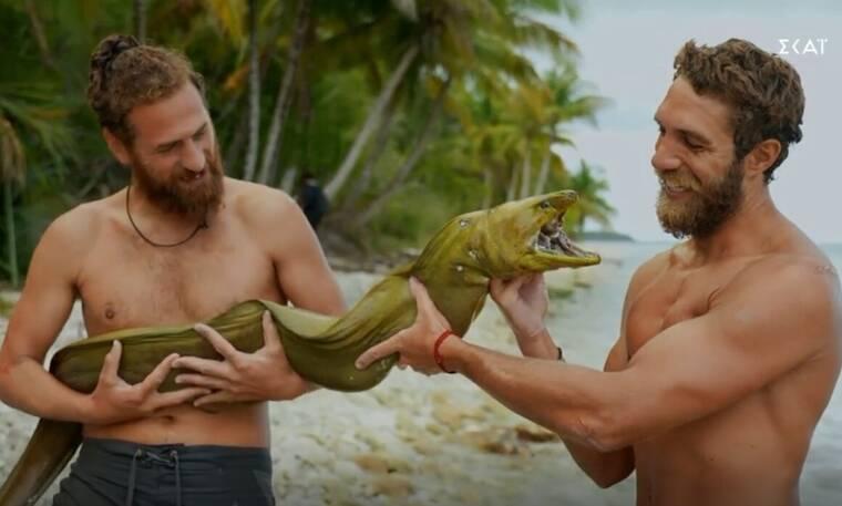 Survivor: Το τεράστιο ψάρι που έπιασαν Κόρο-Κώστας και ο... παραλληλισμός με τον Παππά