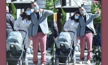 Σκιάδη - Παπαγιάννης: Έγιναν γονείς και αυτή είναι η πρώτη δημόσια εμφάνιση με το μωρό τους