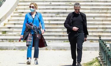 Σμαράγδα Καρύδη - Θοδωρής Αθερίδης: Βόλτα στην ηλιόλουστη Αθήνα!
