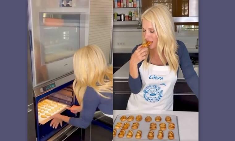 Μενεγάκη: Έκανε θαύματα! Καρέ καρέ η συνταγή της για Πασχαλινά κουλουράκια με γεύση τσουρέκι!