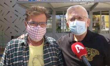 Happy Day: Βερύκιος – Παπανώτας: Έκαναν το εμβόλιο για τον κορονοϊό και η κάμερα τους περίμενε απέξω