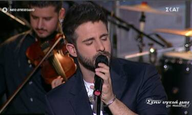Στην υγειά μας ρε παιδιά: Ο Γιώργος Λιβάνης ερμήνευσε τραγούδι όλο νόημα στην εκπομπή