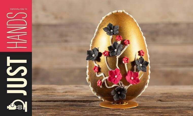 Σοκολατένιο πασχαλινό αβγό από τον Άκη Πετρετζίκη