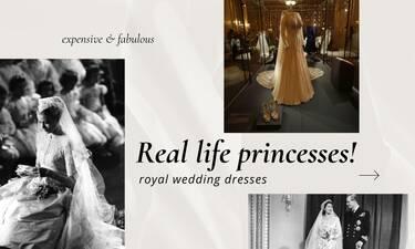 Πριγκιπικά νυφικά: Ποια φόρεσε το πιο ακριβό;