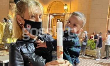 Σάσα Σταμάτη: Ανάσταση αγκαλιά με τον ανιψιό της, ένα μήνα μετά το θάνατο του μπαμπά της