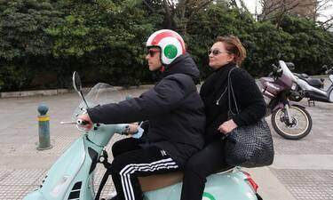 Φιλαρέτη Κομνηνού-Γιώργος Παπαγεωργίου: Απολαυστικές φωτό! Μάνα και γιος έγιναν μηχανόβιοι!
