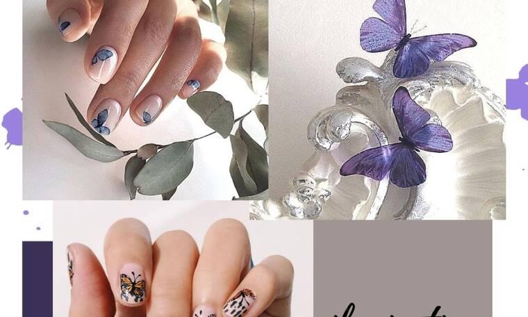 To nail art που θέλουμε για τα νύχια μας αυτή την Παρασκευή είναι γεμάτο πεταλούδες!