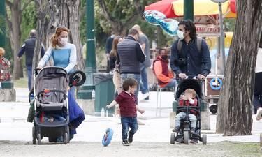 Παπαληγούρα - Πάντος: Νέες φωτό από την καθημερινότητα με τους γιους τους!