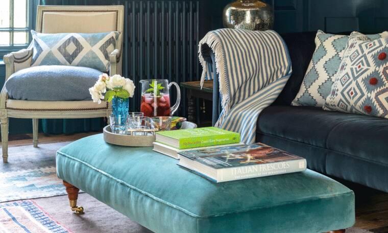 Πώς θα βάλεις το μπλε χρώμα μέσα στο σπίτι σου χωρίς να δείχνει κιτς (photos)