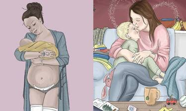 Τα σκίτσα αυτής της μαμάς για τη μητρότητα είναι πολύ ιδιαίτερα