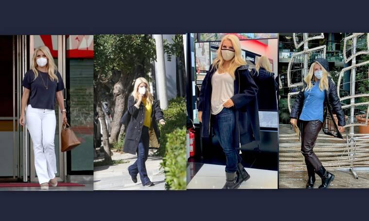 Eλένη Μενεγάκη: Ο ορισμός του ιδανικού street look! Τα ωραιότερα παντελόνια της που λατρέψαμε