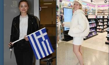Eurovision 2021: Στεφανία Λυμπερακάκη - Έλενα Τσαγκρινού: Επέστρεψαν στην Ελλάδα με χαμόγελα! (Pics)