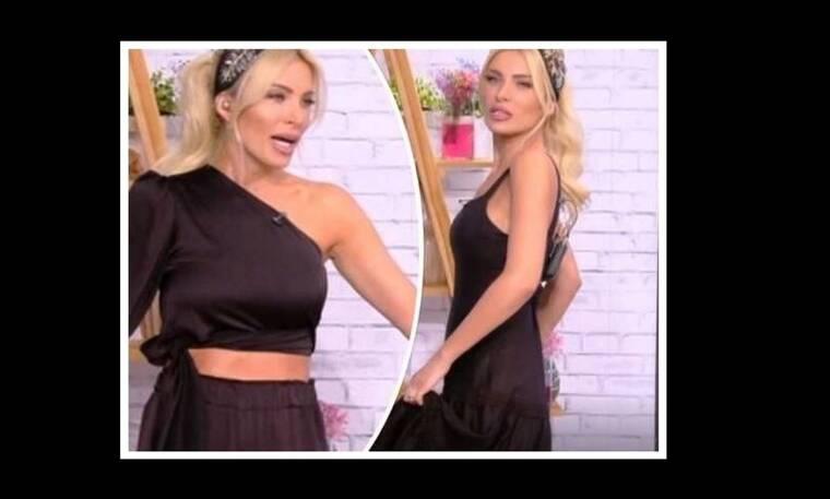 Ευτυχείτε: Το είδαμε κι αυτό! Η Καινούργιου άλλαξε ρούχα κατά τη διάρκεια της εκπομπής!