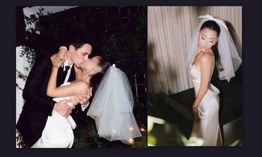 Ariana Grande: Την είδαμε νύφη στις πρώτες φωτό από το γάμο της και σαστίσαμε! Το παραμυθένιο νυφικό