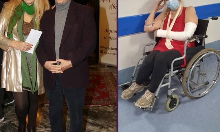 Ατύχημα για γνωστή ηθοποιό: Έσπασε τον αγκώνα της - Φωτό μέσα από το νοσοκομείο