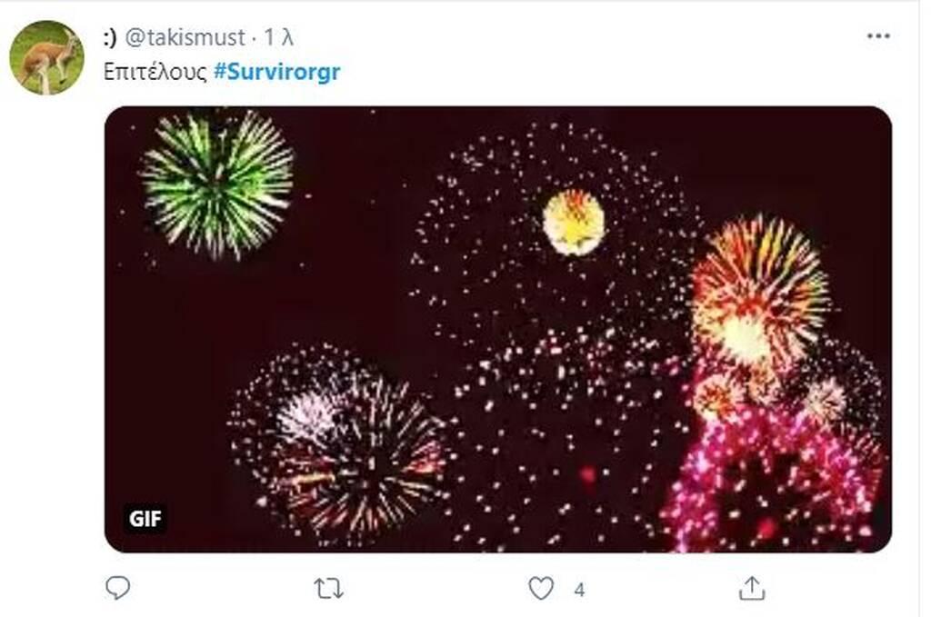 Survivor: «Πυροτεχνήματα» στο Twitter με την αποχώρηση του Τριαντάφυλλου