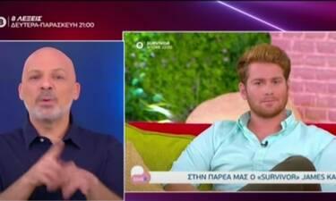 Νίκος Μουτσινάς: Η επική ατάκα για την αποχώρηση του James από την εκπομπή της Μαλέσκου!