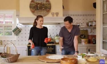 Το θαύμα έγινε στην κουζίνα της Ζυγούλη όταν μαζί της έφτιαξε πίτσα σε χρόνο dt ο Αποστόλης Ρουβάς
