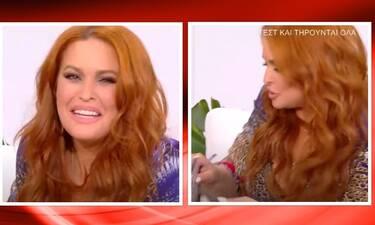 Σίσσυ Χρηστίδου: Χτύπησε το κινητό της on air - Η αντίδραση της παρουσιάστριας