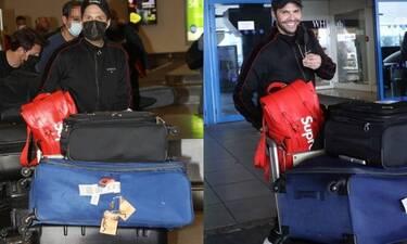 Τσαλίκης: Επέστρεψε από την Αυστραλία μετά από έναν μήνα - Οι αμέτρητες βαλίτσες στο αεροδρόμιο