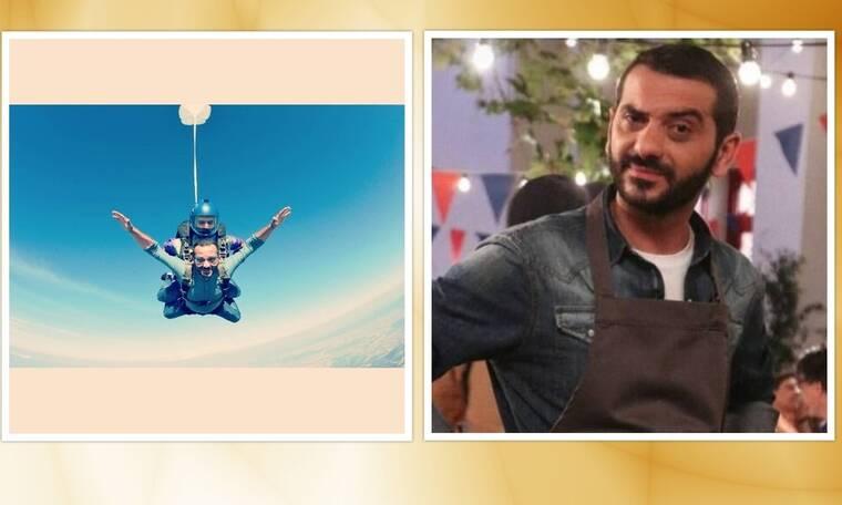 "MasterChef: Ο Λεωνίδας Κουτσόπουλος έκανε ελεύθερη πτώση - Θα τα ""χάσεις"" με τις φωτό του!"