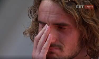 Στέφανος Τσιτσιπάς: Ξέσπασε σε... κλάματα αμέσως μετά την πρόκρισή του στο τελικό του Roland Garros!