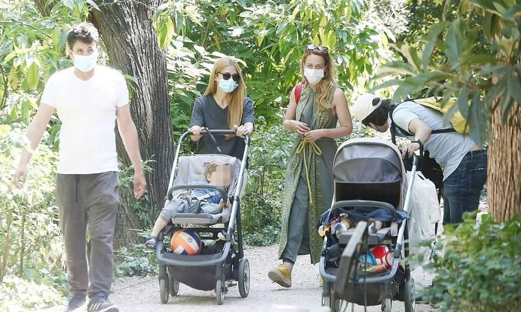 Οι μανούλες της showbiz συναντήθηκαν στον Εθνικό κήπο και ο φωτογραφικός φακός ήταν εκεί