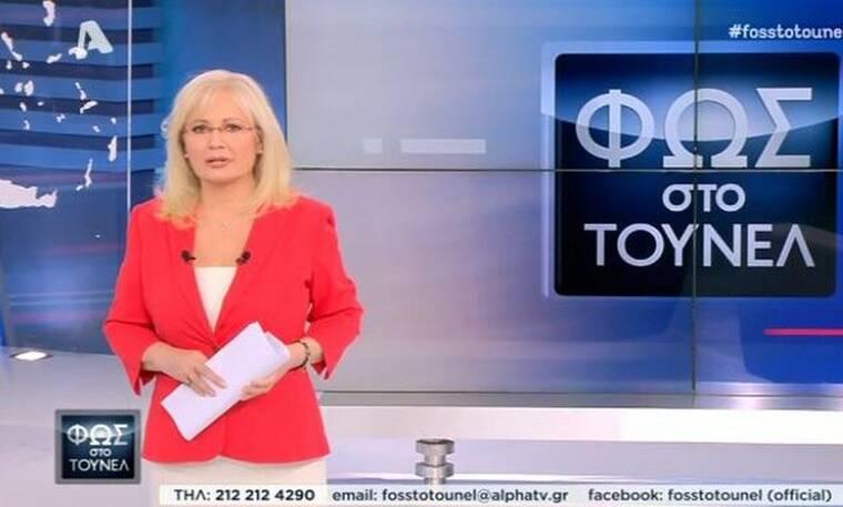 Φως στο τούνελ: Η σικ εμφάνιση της Αγγελικής Νικολούλη στην τελευταία της εκπομπή