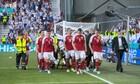 Euro 2020: Κατέρρευσε ο Έρικσεν! «Πάγωσαν» κοινό και παίκτες