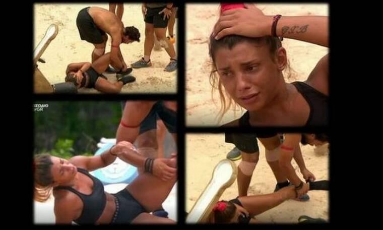 Survivor: Πλάνταξε στο κλάμα η Μαριαλένα μετά τον τραυματισμό - Στο πλευρό της ο Σάκης Κατσούλης