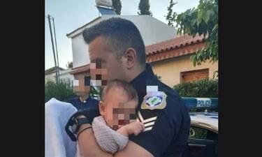 Γλυκά Νερά: Ραγίζει καρδιές η ανάρτηση του αστυνομικού που κράτησε στην αγκαλιά του το μωρό