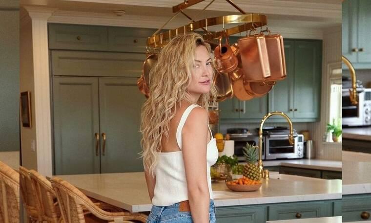 Kate Hudson: Κατέφθασε στη Σκιάθο και το Instagram της «μύρισε» Ελληνικό καλοκαίρι