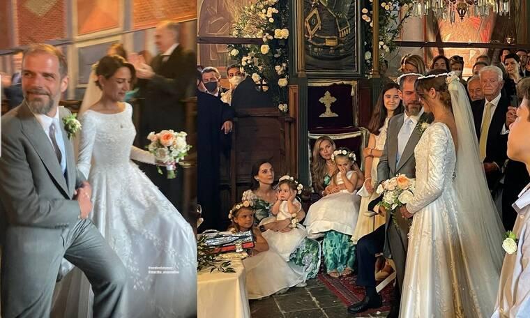 Αντώνης Λαιμός – Μαρίκα Αράπογλου: Νέες φώτο και βίντεο από τον λαμπερό γάμο τους στο Πάπιγκο
