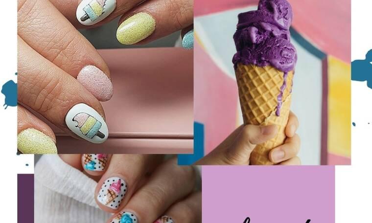 #IceCreamNails! Σήμερα θέλουμε παγωτό κυριολεκτικά και μεταφορικά… στα νύχια μας