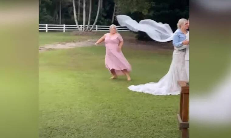 Χαμός - Κουμπάρα πήγε να… τινάξει τον γάμο στον αέρα (pics+vid)