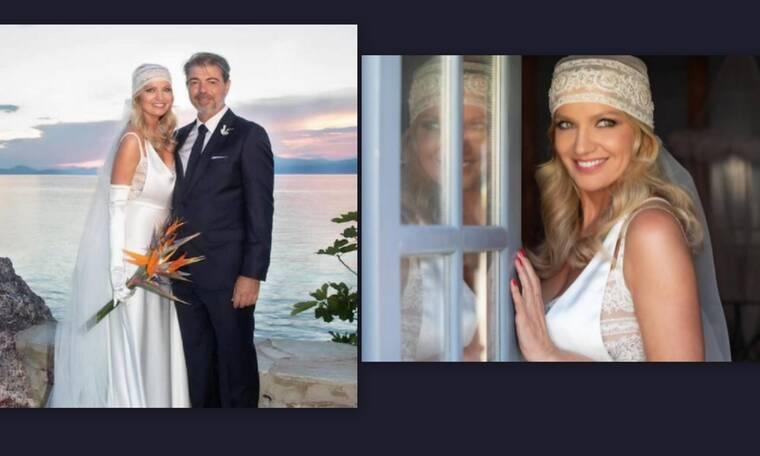 Εντυπωσιακή νύφη η Παναγιώτα Βλαντή! Το παραμυθένιο νυφικό και τα ανατρεπτικά αξεσουάρ