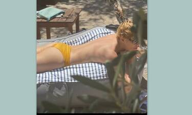 Γνωστή Ελληνίδα ηθοποιός έκανε ηλιοθεραπεία topless και «μείναμε άφωνοι» με το κορμί της