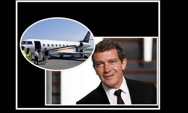 Αντόνιο Μπαντέρας: Προσγειώθηκε με ιδιωτικό τζετ στη Θεσσαλονίκη