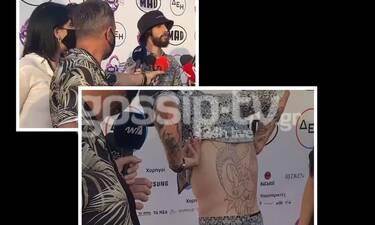Mad Video Music Awards 2021: Ο Αναστάσιος Ράμμος γδύθηκε για να μας δείξει το νέο του tattoo