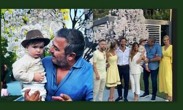 Βαρδής - Σκαφίδα: Η βάφτιση του γιου τους με νονούς τον Ρέμο και την Μπόσνιακ (Photos & Videos)