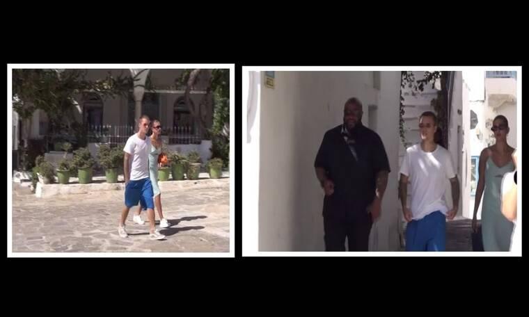 Justin Bieber - Hailey Baldwin: Νέα πλάνα από τις διακοπές τους στη Μύκονο