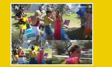 Φινάλε για το Happy Day - Βγήκαν από το πλατό με μαγιό, πήραν τα κουβαδάκια τους & έπαιξαν μπουγέλο!
