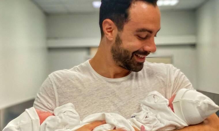 Σάκης Τανιμανίδης: Το βίντεο με τα δίδυμα κοριτσάκια του που έγινε viral στο instagram!