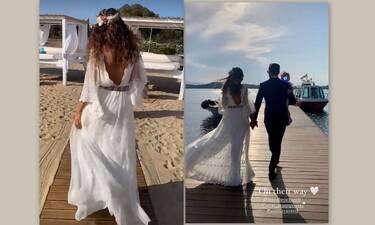 Πούμπουρας –Θεοχαρίδη: Παντρεύτηκαν με θρησκευτικό γάμο και βάφτισαν την κόρη τους–Οι πρώτες εικόνες