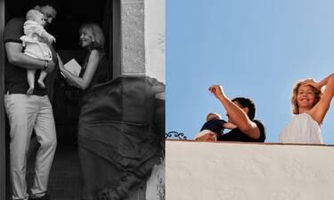 Μπαλατσινού - Κικίλιας: Οι νέες φωτό από τη βάφτιση του γιου τους και η υπέροχη μπομπονιέρα!