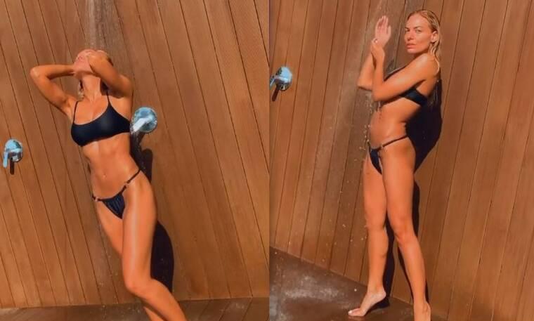 Ιωάννα Μαλέσκου: Το απόλυτο κορμί! Φορά το μπικίνι της, κάνει ντουζ και… «σκορπά εγκεφαλικά»!
