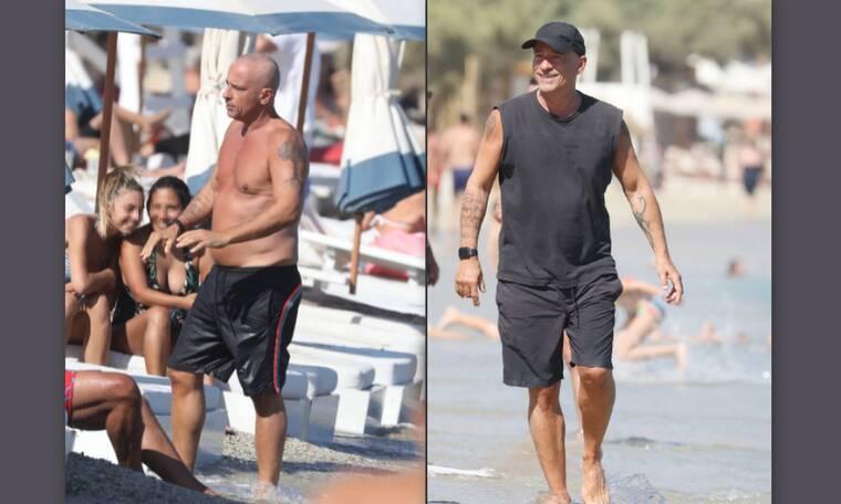 Eros Ramazzotti: Η γοητεία παραμένει παρά τα κιλάκια–Οι φωτογραφίες με μαγιό σε παραλία της Μυκόνου