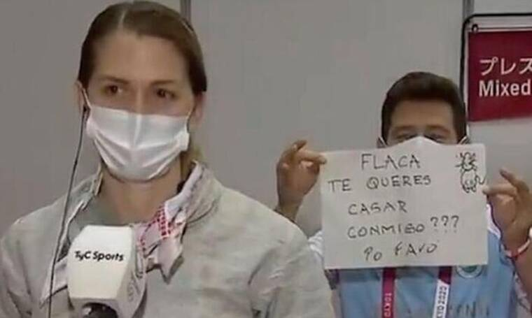 Ολυμπιακοί Αγώνες: Πρόταση γάμου στη μικτή ζώνη- Η αθλήτρια είπε «ναι» με τη... δεύτερη (vid)