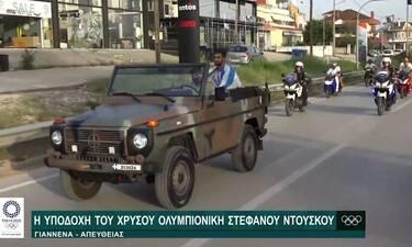 Υποδοχή με τιμές αρχηγού κράτους στον Χρυσό Ολυμπιονίκη της Κωπηλασίας, Στέφανο Ντούσκο στα Γιάννενα