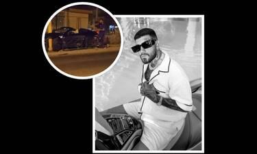 Τροχαίο ατύχημα για τον Snik - Καρφώθηκε το υπερπολυτελές αυτοκίνητό του σε διαχωριστική νησίδα